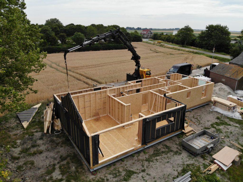 prefab houtskeletbouw woning